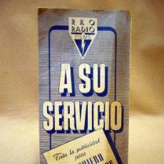 Cine: PROGRAMA DE CINE, RKO RADIO, NI QUIERO DECIRTE ADIOS. Lote 31316665