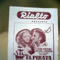 Cine: PROGRAMA DE CINE, FOLLETO DE MANO, RIALTO, EL PIRATA Y LA DAMA. Lote 31873981