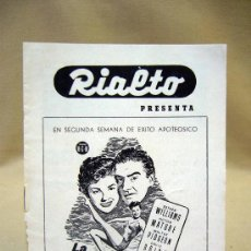 Cine: PROGRAMA DE CINE, FOLLETO DE MANO, RIALTO, LA PRIMERA SIRENA. Lote 31874039
