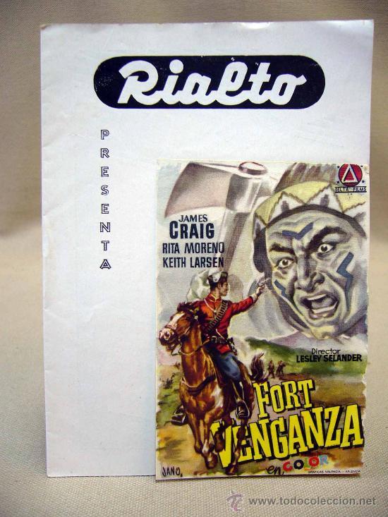 PROGRAMA DE CINE, FOLLETO DE MANO, RIALTO, FORT VENGANZA (Cine - Folletos de Mano - Westerns)