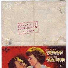 Cine: ANTIGUO PROGRAMA DOBLE DE CINE - CITA DE AMOR - CHARLES BOYER - AÑO 1.941. Lote 31305664