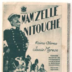 Cine: MAM'ZELLE NITOUCHE PROGRAMA DOBLE CINAES RAIMU SIMONE SIMON EDWIGE FEUILLERE. Lote 31345009