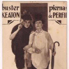 Cine: PIERNAS DE PERFIL PROGRAMA TARJETA MGM BUSTER KEATON JIMMY DURANTE THELMA TODD. Lote 31345258