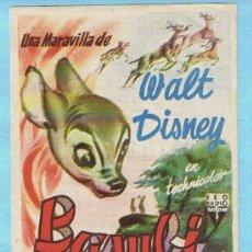 Cine: BAMBI. WALT DISNEY. CINES BOHEMIO Y GALILEO. Lote 31352919