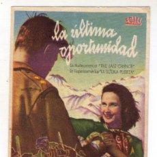 Cine: LA ULTIMA OPORTUNIDAD - JOHN HOY - 1945 - PUBLICIDAD EN CAPITOL. Lote 31388373