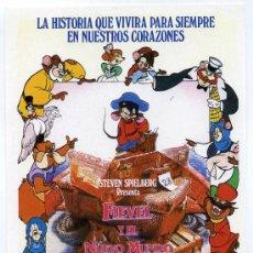 Cine: FIEVEL Y EL NUEVO MUNDO, DIBUJOS ANIMADOS.. Lote 174379915