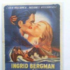 Cine: STROMBOLI , INGRID BERGMAN , CON PUBLICIDAD. Lote 31401451