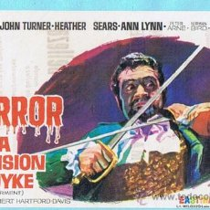 Cine: HORROR EN LA MANSION FORDYKE. JOHN TURNER, HEATHER SEARS. JANO. CINE TARRAGONA, TARRAGONA 1967. Lote 31603224