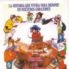 Cine: FIEVEL Y EL NUEVO MUNDO - STEVEN SPIELBERG - 1986 - SIN PUBLICIDAD. Lote 31563517