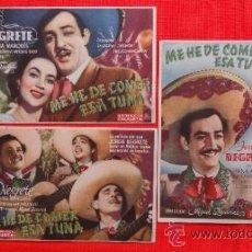 Kino - ME HE DE COMER ESA TUNA, 3 PROGRAMAS ORIGINALES, JORGE NEGRETE, 1 CP CINEMA ELISEOS EXCELENTE ESTADO - 31566700