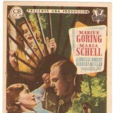 Cine: YO NO SOY UNA HEROINA - MARIUS GORING, MARÍA SCHELL, GABRIELLE DORZIAT, BARBARA MULLEN. Lote 31612621