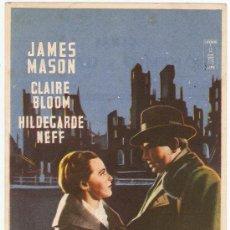 Cine: SE INTERPONE UN HOMBRE - JAMES MASON, CLAIRE BLOOM, HILDEGARDE NEFF - DIRECTOR CAROL REED. Lote 31856887