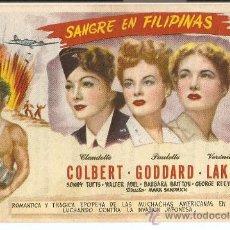 Cine: SANGRE EN FILIPINAS - CLAUDETTE COLBERT, PAULETTE GODDARD, VERÓNICA LAKE - DIRECTOR MARK SANDRICH. Lote 31856970