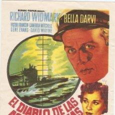 Cine: EL DIABLO DE LAS AGUAS TURBIAS - RICHARD WIDMARK, BELLA DARVI - DIRECTOR SAMUEL FULLER - SOLIGÓ. Lote 31936663