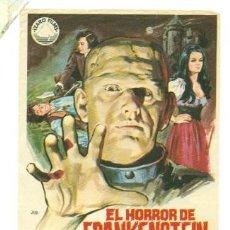 Cine: RALPH BATES , EL HORROR DE FRANKENSTEIN - ORIGINAL SIN PROPAGANDA - IMPECABLE. Lote 31589439