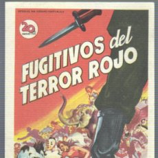 Cine: FOLLETO DE MANO DE LA PELI. FUGITIVOS DEL TERROR ROJO - DE ELIA KAZAN. Lote 31605800