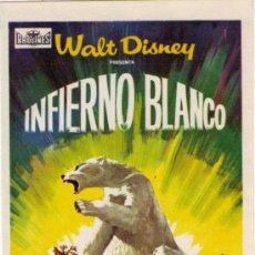 Cine: INFIERNO BLANCO - WALT DISNEY - SIN PUBLICIDAD. Lote 31654654