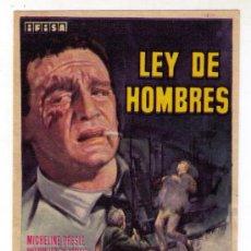 Cine: LEY DE HOMBRES - MICHELINE PRESLE - 1962 - SIN PUBLICIDAD. Lote 31656676