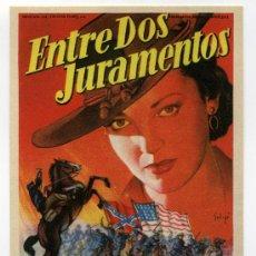 Flyers Publicitaires de films Anciens: ENTRE DOS JURAMENTOS, CON LINDA DARNELL.. Lote 31688697