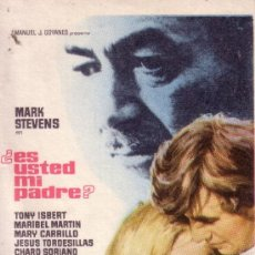 Flyers Publicitaires de films Anciens: FOLLETO - ES USTED MI PADRE? - MARIBEL MARTIN Y TONY ISBERT. Lote 31717931