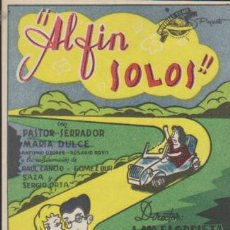 Cine: ¡AL FIN SOLOS! SENCILLO DE UNIVERSITAS FILMS.. Lote 191860317