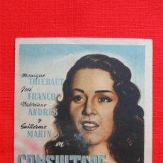 Flyers Publicitaires de films Anciens: CONSULTARE A MISTER BROWN, GUILLERMO MARIN VALERIANO ANDRES, ORIGINAL, SIN PUBLICIDAD. Lote 31833529