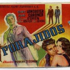 Cine: FORAJIDOS, CON BURT LANCASTER.. Lote 31863863