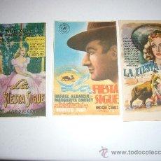 Cine: LA FIESTA SIGUE MARGARITA ANDREY TOROS CINE ESPAÑOL 3 PROGRAMAS DIFERENTES. Lote 207121411