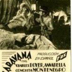 Cine: CARAVANA. CHARLES BOYER. ANNABELLA. SENCILLO, CARTULINA. . Lote 31881620