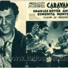 Cine: CARAVANA. CHARLES BOYER. ANNABELLA. SENCILLO, CARTULINA. . Lote 31881650