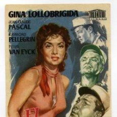 Cine: EL GRAN JUEGO, CON GINA LOLLOBRÍGIDA.. Lote 267873354