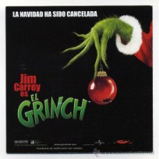 Cine: EL GRINCH, CON JIM CAREY.. Lote 35442248