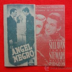 Cine: EL ANGEL NEGRO, PROGRAMA DOBLE ORIGINAL, MARGARET SULLAVAN JAMES STEWART, EXCELENTE ESTADO SP. Lote 31895613