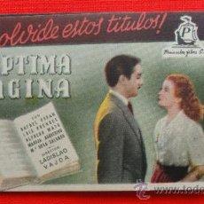 Cine: PROGRAMA CALENDARIO FUTBOL LIGA 1951/52, SÉPTIMA PÁGINA, HOMBRE ACOSADO Y UN CORAZÓN EN EL RUEDO. Lote 31944844