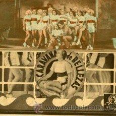 Cine: CARAVANA DE BELLEZAS. JIMMY DURANTE.- DOBLE GRANDE. REVERSO TEATRO BRETON DE ALMARAZ 1942.. Lote 217316517