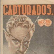 Cine: CAPTURADOS. DOBLE DE WB. DOBLE DE WB. SALÓN CINEMA - VILLANUEVA LA SERENA 1936.. Lote 32003654