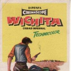 Cine: WICHITA CIUDAD INFERNAL- PROGRAMAS DE CINE Y OTROS-COLECCIONISMO EN GENERAL-RASTRILLOPORTOBELLO. Lote 32045019