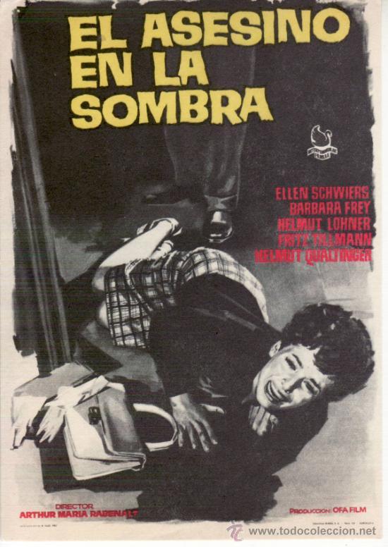 EL ASESINO EN LA SOMBRA- PROGRAMAS DE CINE Y OTROS-COLECCIONISMO EN GENERAL-RASTRILLOPORTOBELLO (Cine - Folletos de Mano - Suspense)