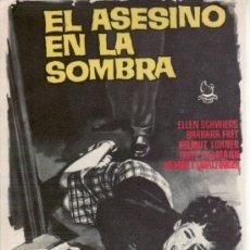 Cine: EL ASESINO EN LA SOMBRA- PROGRAMAS DE CINE Y OTROS-COLECCIONISMO EN GENERAL-RASTRILLOPORTOBELLO. Lote 32045120