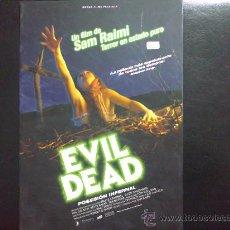 Cine: EVIL DEAD, POSESIÓN INFERNAL. FOLLETO PROMOCIONAL DE LA PELÍCULA. Lote 32076644