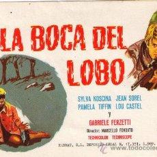 Cine: EN LA BOCA DEL LOBO - SYLVA KOSCINA - 1968 - SIN PUBLICIDAD. Lote 34023783