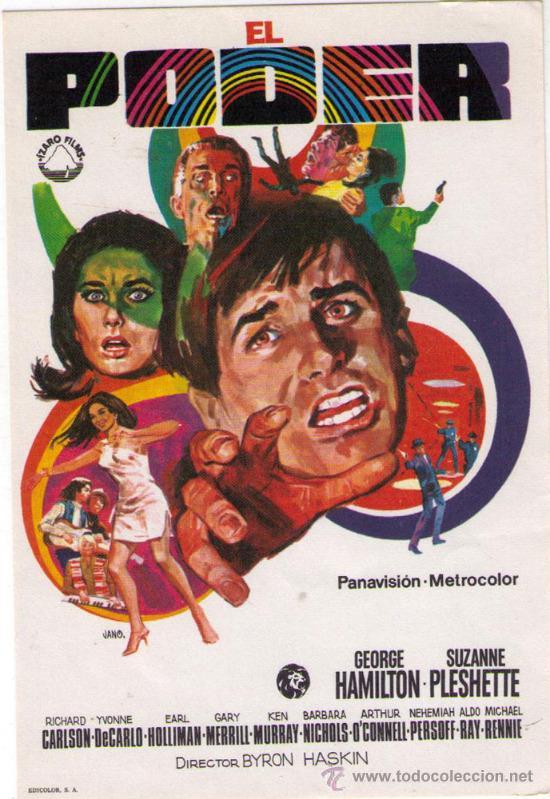 EL PODER - GEORGE HAMILTON - 1968 - SIN PUBLICIDAD (Cine - Folletos de Mano - Acción)