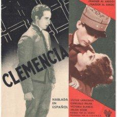 Cine: CLEMENCIA PROGRAMA DOBLE RKO CONSUELO FRANK JULIAN SOLER VICTORIA BLANCO VICTOR URRUCHUA . Lote 32127038