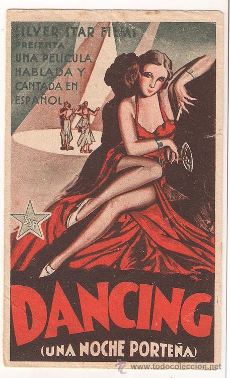 DANCING UNA NOCHE PORTEÑA PROGRAMA DOBLE SILVER STAR PAQUITA GARZON ALICIA VIGNOLI AMANDA LEDESMA (Cine - Folletos de Mano - Musicales)