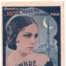Cine: EL HOMBRE QUE ASESINO PROGRAMA DOBLE PARAMOUNT ROSITA MORENO RICARDO PUGA HELENA D'ALGY. Lote 32131275