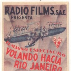 Kino - VOLANDO HACIA RIO DE JANEIRO PROGRAMA DOBLE RKO ASTAIRE ROGERS DEL RIO - 32132268