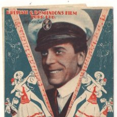 Cine: LOS MILLONES DE BREWSTER PROGRAMA DOBLE ARTISTAS ASOCIADOS JACK BUCHANAN LILI DAMITA. Lote 32138248