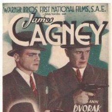Cine: CONTRA EL IMPERIO DEL CRIMEN G-MEN PROGRAMA DOBLE WARNER JAMES CAGNEY ANN DVORAK. Lote 32140057