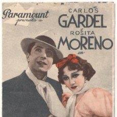 Cinema - TANGO BAR PROGRAMA DOBLE PARAMOUNT CARLOS GARDEL ROSITA MORENO - 32140610