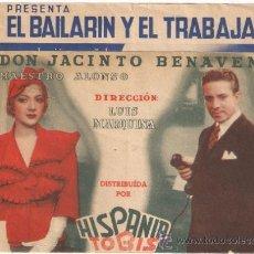 Cine: EL BAILARIN Y EL TRABAJADOR PROGRAMA DOBLE HISPANIA TOBIS CINE ESPAÑOL ROBERTO REY ANTOÑITA COLOME. Lote 32140638